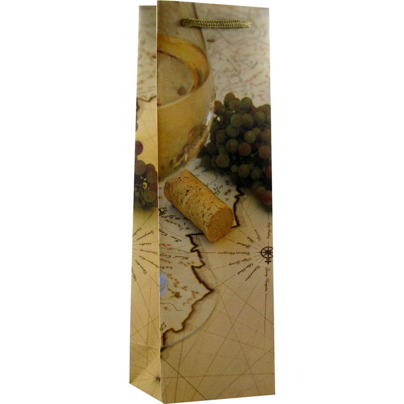 printed paper wine trail map wine bag