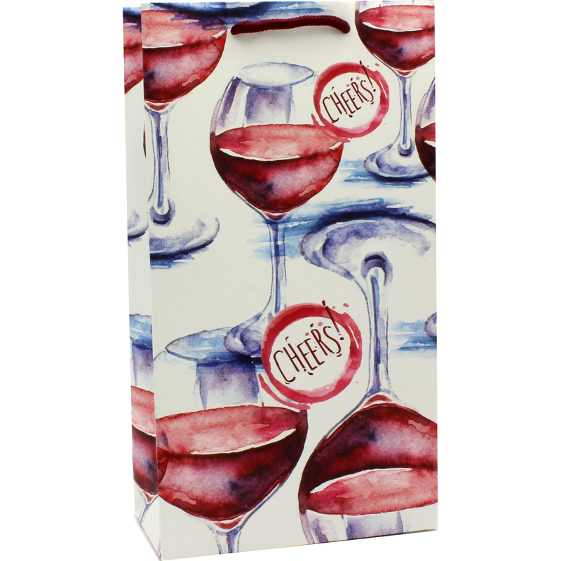 printed paper cheers wine bag