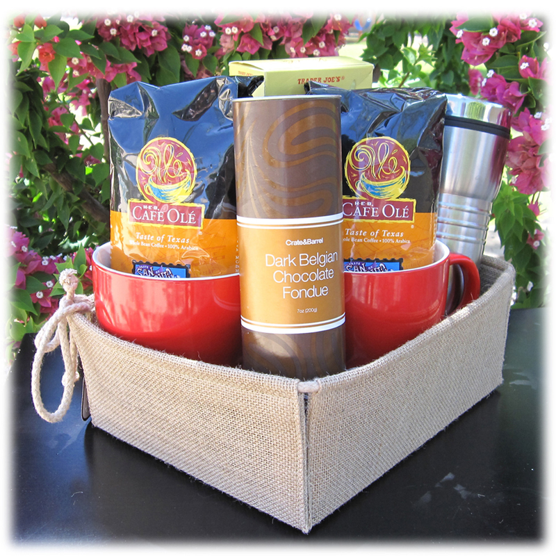 natural jute gourmet gift basket