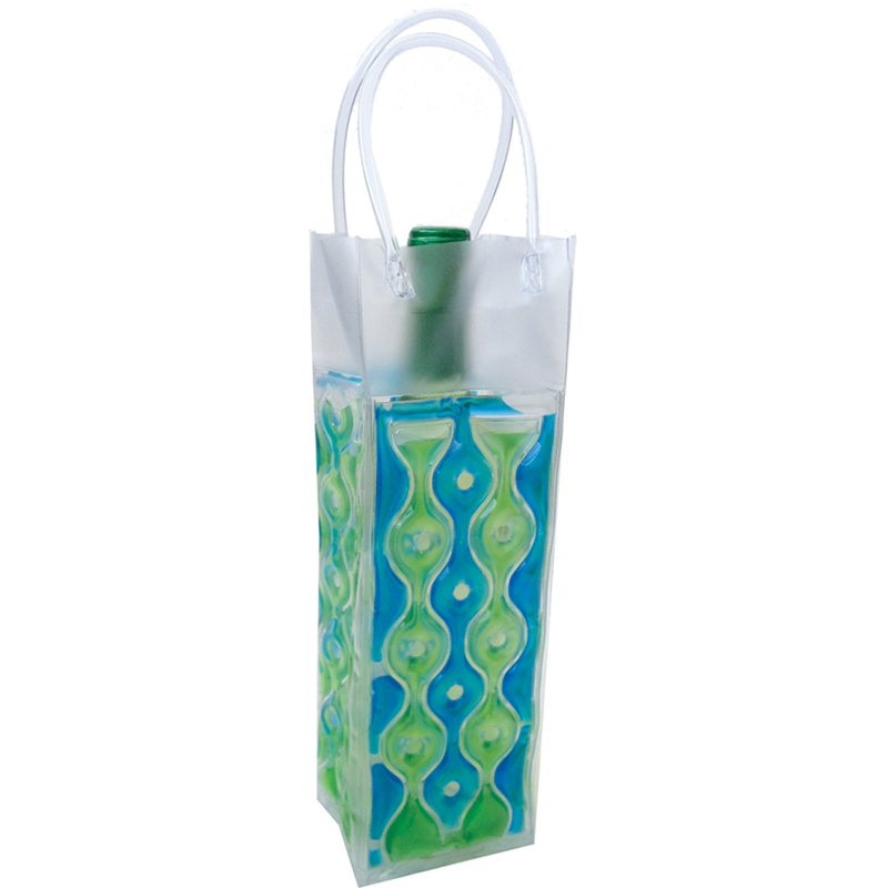 chill it wave 1 blue green freezable drink bottle bag