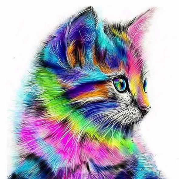 Rainbow Kitten - Full Drill Diamond Painting
