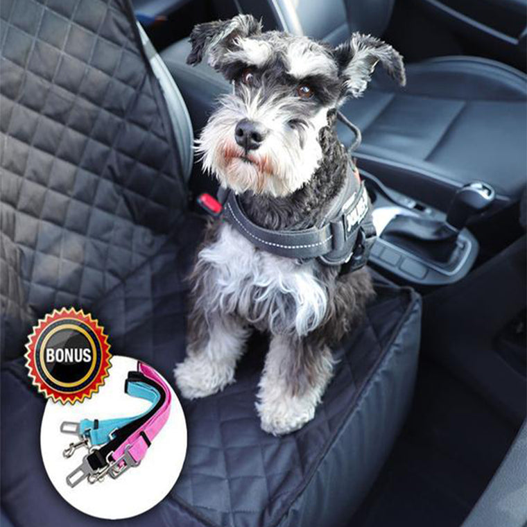 3-in-1 Deluxe Pet Single-seat Car Seat Cover (Bonus Seat Belt)