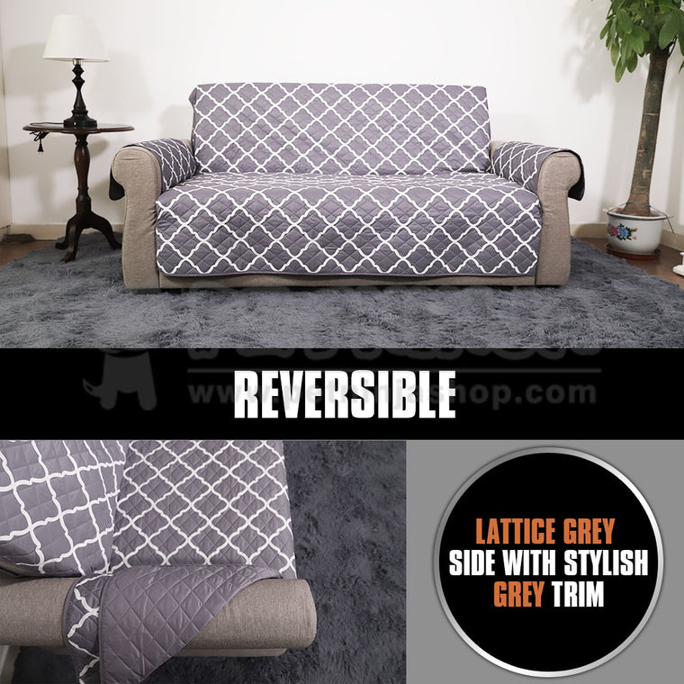 Reversible Waterproof Sofa and Couch Cover (Great for Cats/Dogs)