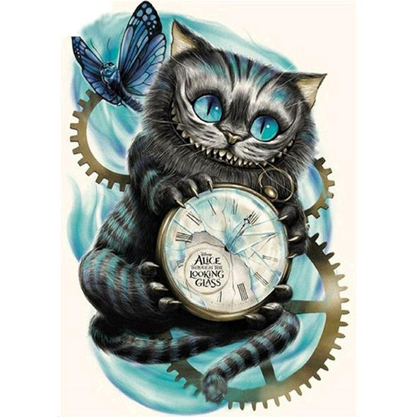 Cheshire Cat Alice in Wonderland- Full Drill Diamond Painting