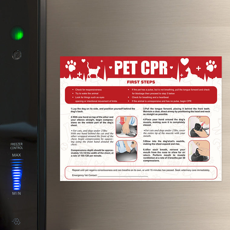 Pet CPR Poster & First-Aid Care Kit