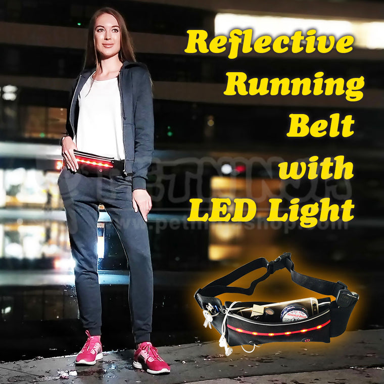 Reflective Running Belt with LED Light