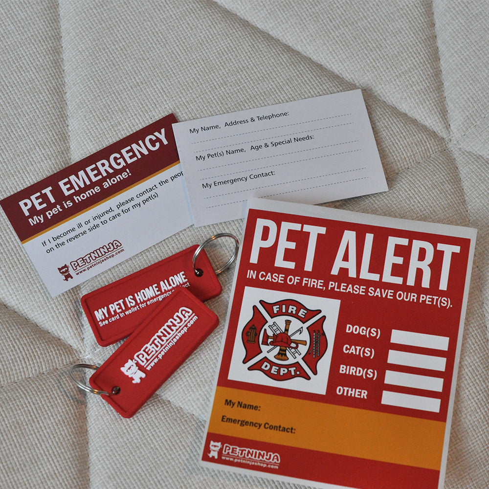 Pet At Home In Case of Emergency Sticker, ICE Card, Save Our Pets Door