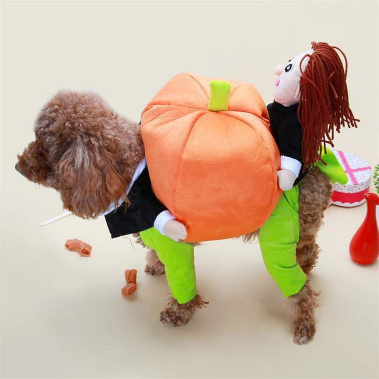 Halloween Gift--Fancy Carrying Pumpkin Pet Costume