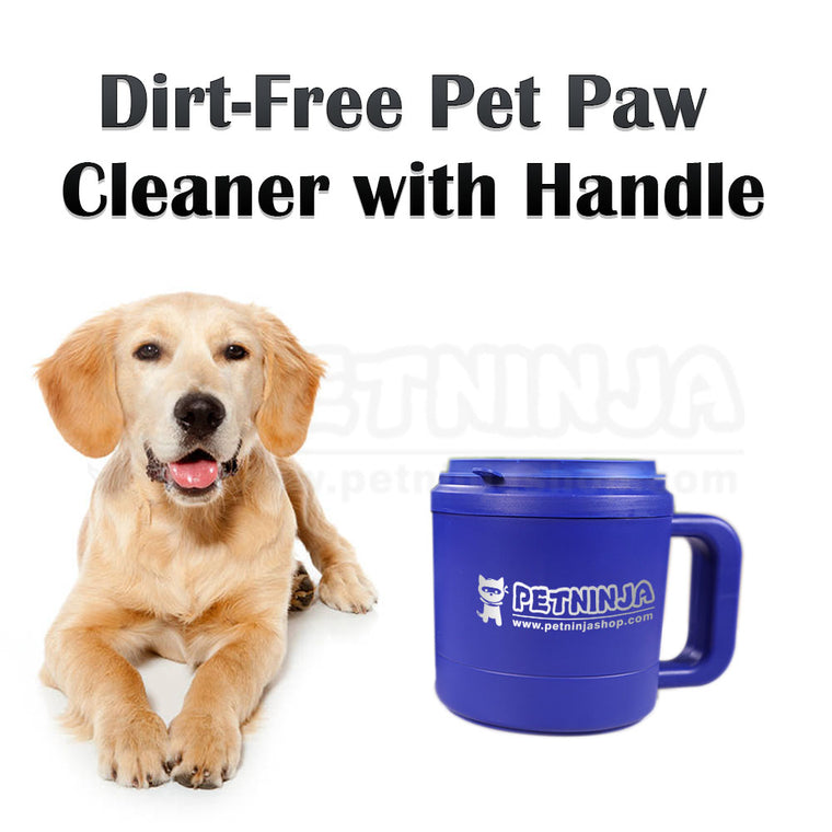 Dirt-Free Pet Paw Cleaner with Handle