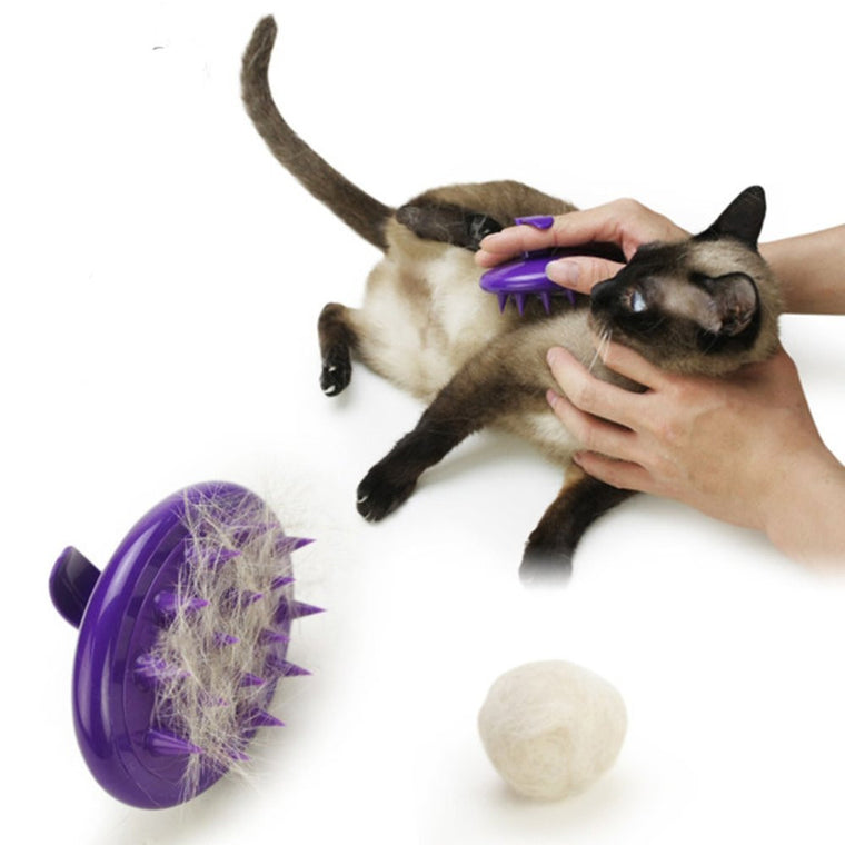 Ultra-Soft Silicone Dog and Cat Brush for Shedding