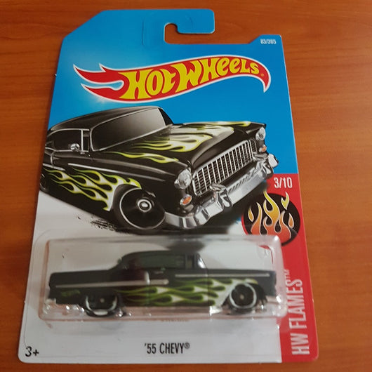 2017 Hot Wheels – '55 Chevy + 6 Protector Packs - Protector Pack