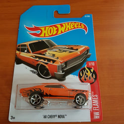 2017 Hot Wheels – '68 Chevy Nova + 11 Protector Packs