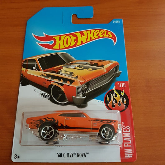 2017 Hot Wheels – '68 Chevy Nova + 6 Protector Packs - Protector Pack