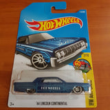 2017 Hot Wheels – '64 Lincoln Continental + 6 Protector Packs - Protector Pack