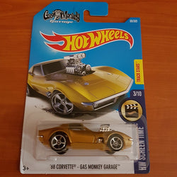2017 Hot Wheels – '68 Corvette - Gas Monkey Garage + 11 Protector Packs