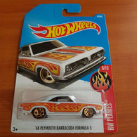 2017 Hot Wheels – '68 Plymouth Barracuda Formula S + 6 Protector Packs - Protector Pack