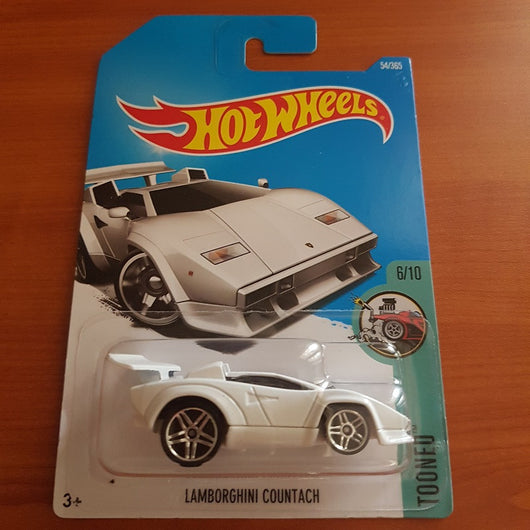 2017 Hot Wheels – Lamborghini Countach  + 6 Protector Packs - Protector Pack