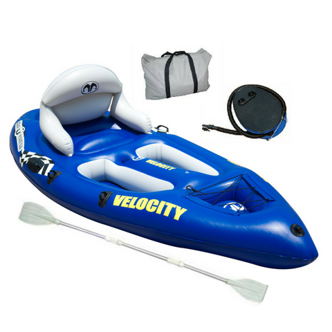 Aqua Marina Velocity 1 Person sit on top Inflatable Kayak - River To Ocean Adventures