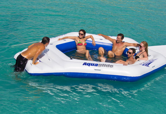 Aquaglide Inflatable Malibu Island - River To Ocean Adventures