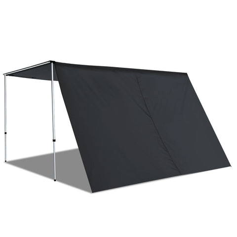 Car Shade Awning Extension 3 x 2M - Charcoal Black - River To Ocean Adventures