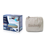 Bestway Queen Size Inflatable Air Mattress - Light Blue & Beige - River To Ocean Adventures