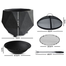 Load image into Gallery viewer, Grillz Outdoor Portable Lightweight Octagon Fire Pit - River To Ocean Adventures