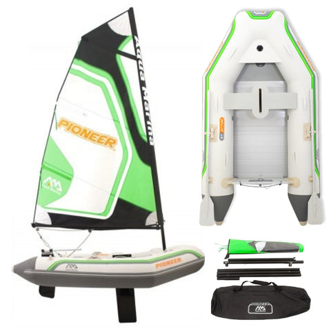 Aqua Marina Pioneer Inflatable Sailing Boat with Aluminium Deck - River To Ocean Adventures