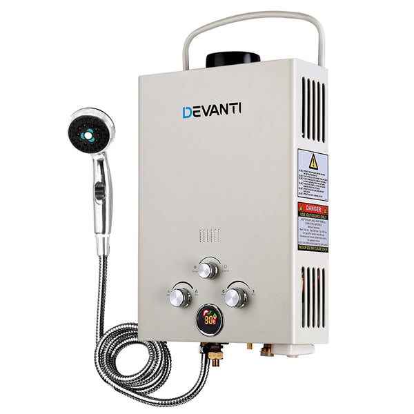 Devanti Portable Gas Hot Water Heater and Shower - River To Ocean Adventures