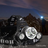 Weisshorn Set of 2 4 Modes LED Flash Torch Headlamp