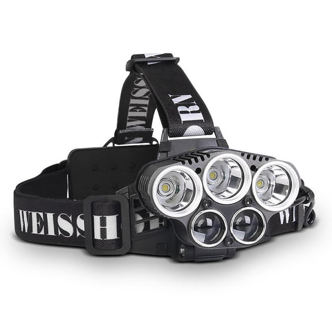 Weisshorn Set of 2 6 Modes LED Head Light Flash Torch Headlamp - River To Ocean Adventures