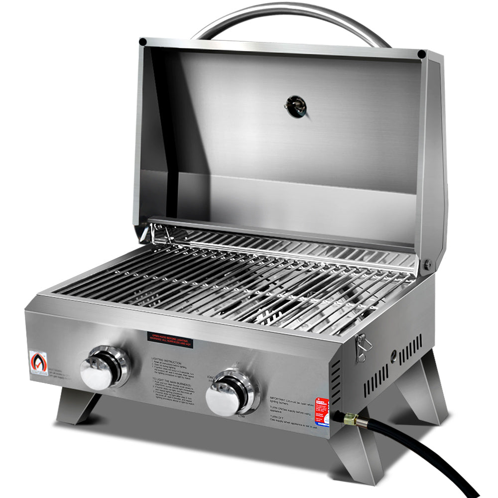 Grillz Portable 2 Burner Gas BBQ - River To Ocean Adventures
