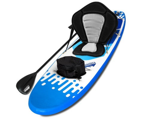 Weisshorn 10ft Inflatable Stand Up Paddle Board SUP With Kayak Seat - Blue - River To Ocean Adventures