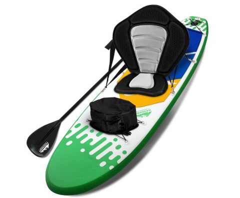 Weisshorn 10ft Inflatable Stand Up Paddle Board SUP With Kayak Seat - Green - River To Ocean Adventures