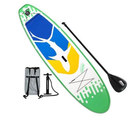Weisshorn 10ft Inflatable Stand Up Paddle Board SUP- Green