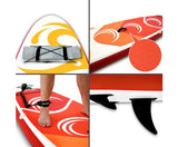 Weisshorn 10ft Stand Up Paddle Board SUP - Orange - River To Ocean Adventures