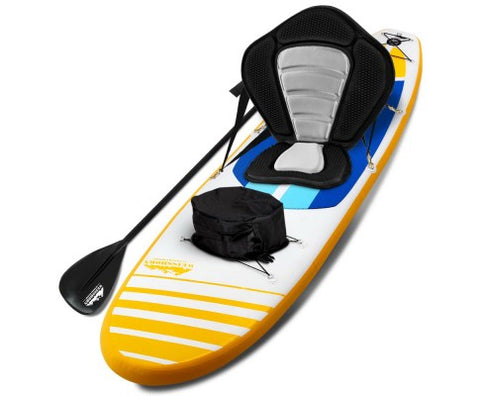 Weisshorn 11ft Inflatable Stand Up Paddle Board With Kayak Seat - Yellow