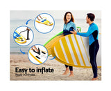 Weisshorn 11ft Inflatable Stand Up Paddle Board With Kayak Seat - Yellow - River To Ocean Adventures