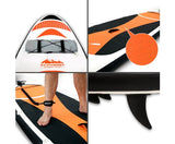 Weisshorn 11ft Inflatable Stand Up Paddle Board Thick SUP - Orange