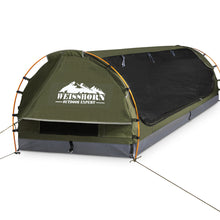 Load image into Gallery viewer, Weisshorn Double Swag Camping Swag Canvas Tent - Celadon - River To Ocean Adventures