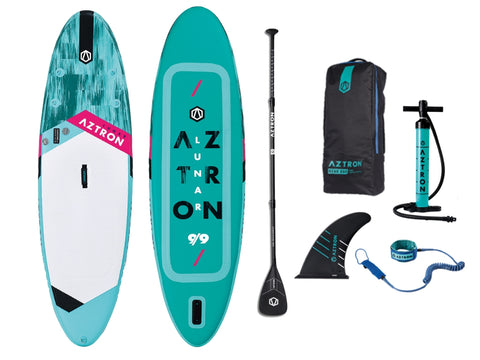 "Aztron Lunar 9ft 9"" Inflatable SUP Paddle Board - River To Ocean Adventures"