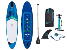 "Load image into Gallery viewer, Aztron Mercury 10ft 10"" Inflatable SUP Paddle Board - River To Ocean Adventures"