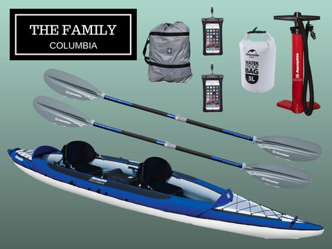The Family - Comumbia Tandem Package - River To Ocean Adventures