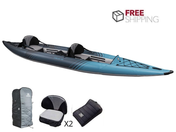 Aquaglide Chelan Tandem 155 DS Tandem 2-3 Person Inflatable Kayak NEW 2021