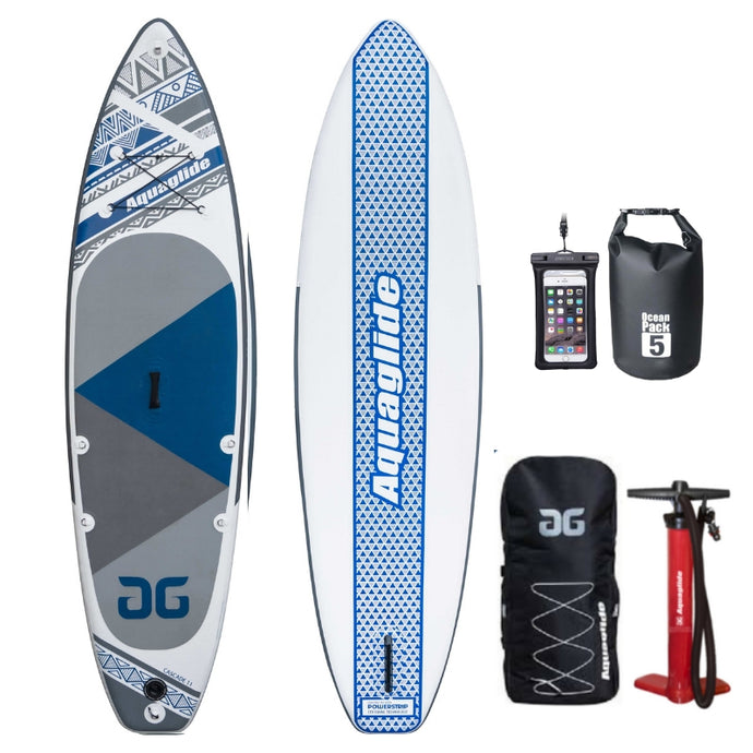 NEW 2019 Aquaglide Cascade 11ft Inflatable Paddleboard SUP - River To Ocean Adventures