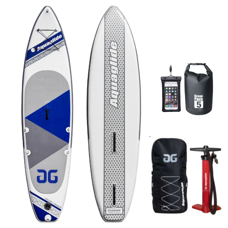 Aquaglide Cascade Inflatable WindSUP Paddleboard - River To Ocean Adventures