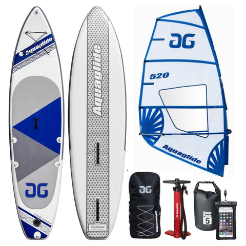 Aquaglide Cascade Inflatable Windsurfing SUP Paddleboard & 5.2 Rig - River To Ocean Adventures
