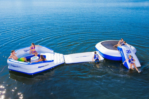 Aquaglide Inflatable Aquapark & Malibu Lounge/Island Combo - River To Ocean Adventures