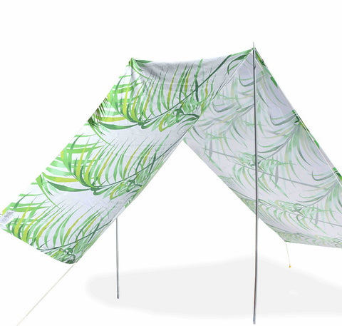 Good Vibes Summer Beach Tent Palm 148x370cm - River To Ocean Adventures