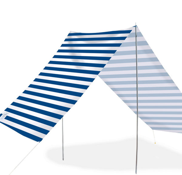 Good Vibes Summer Beach Tent Navy Stripe 148x370cm - River To Ocean Adventures