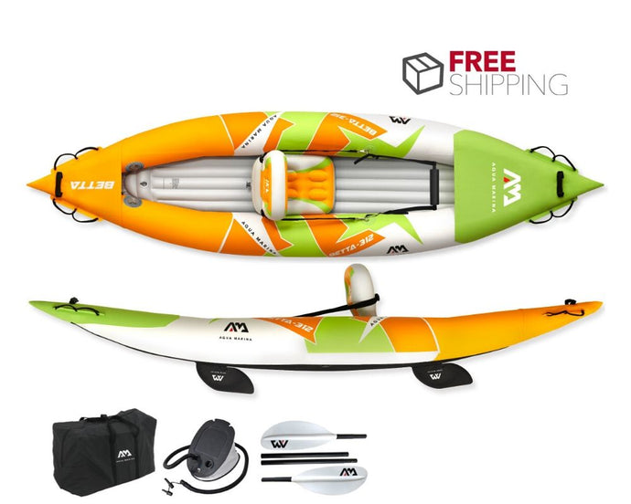Aqua Marina Betta 1 Person Inflatable Kayak NEW 2020 - River To Ocean Adventures
